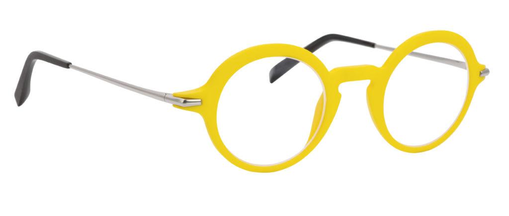 monture design créateur 3D moderne mode ronde jaune