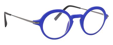 monture design créateur 3D moderne mode ronde bleu électrique