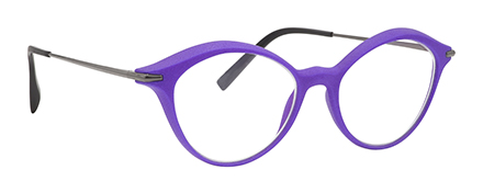 monture design créateur 3D moderne mode femme violette
